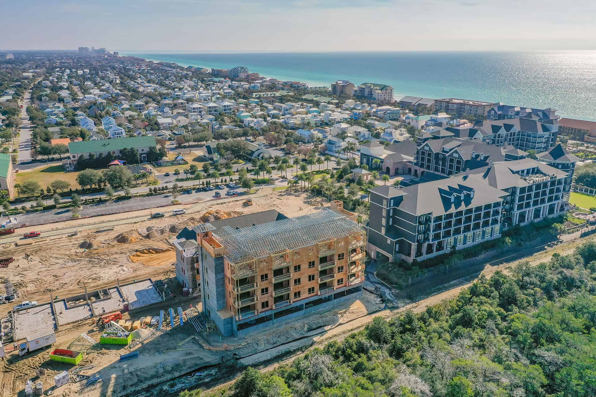Parkside_at_Henderson_Beach_Resort_January_2021 drone photo looking east