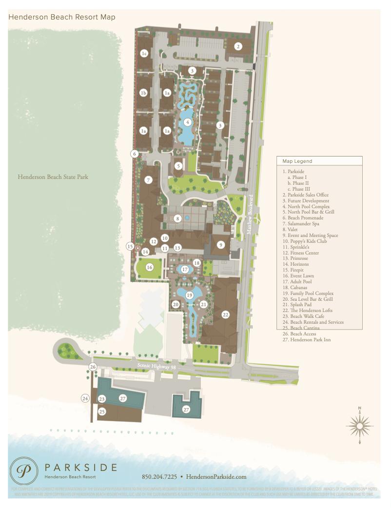 Henderson Beach Resort Map preview